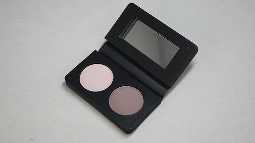 2 pan empty eyeshadow compact