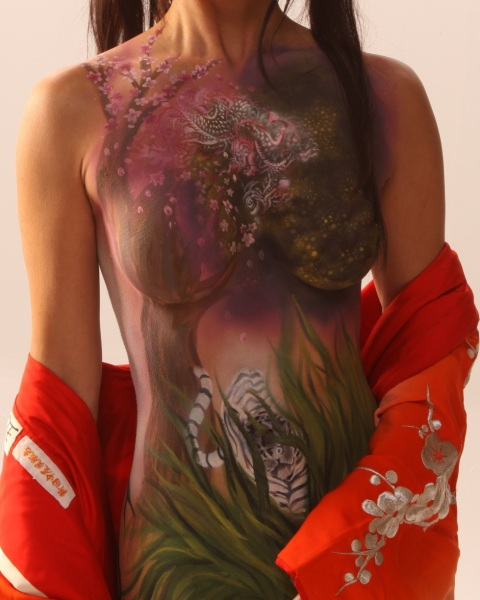 Tiger, Dragon Body Paint