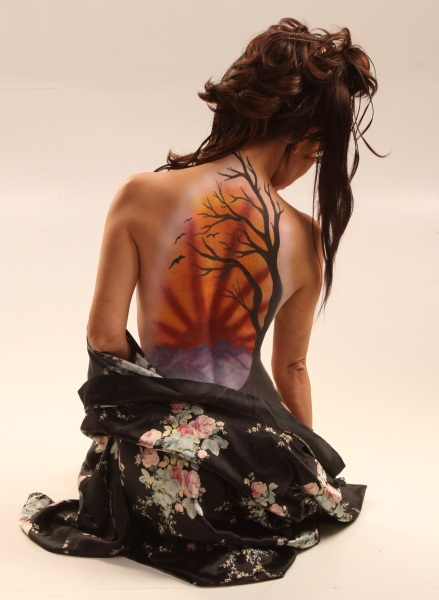 Japanese Scene Body Paint