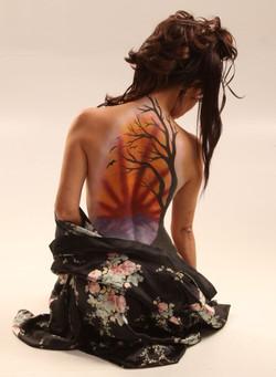 Japanese Scene Body Paint
