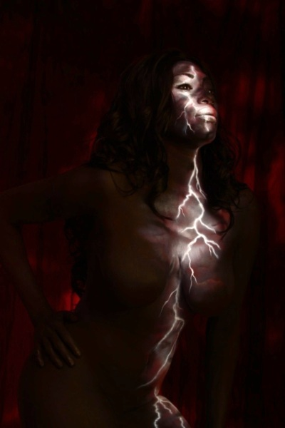 Lightening bodypaint