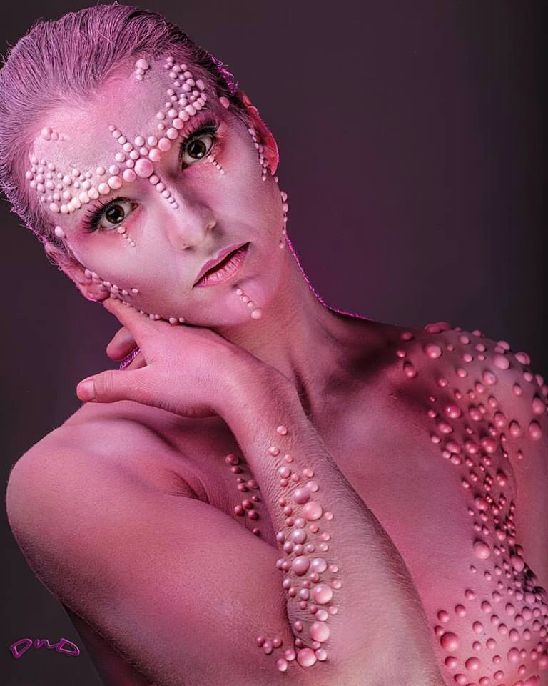 Pink fantasy editorial makeup