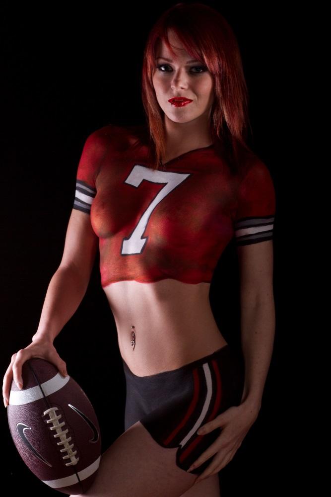 Ohio State Football Jersey Bodypaint