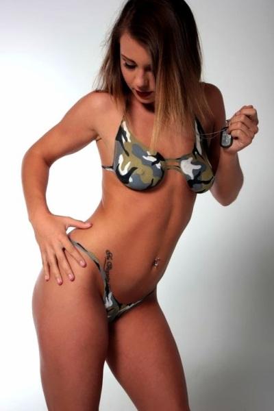 Camo Bikini Body Paint