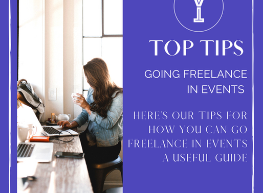 Top Tips - Going freelance in Events
