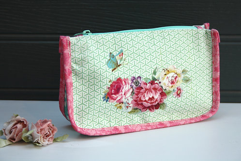 Rose & Butterfly Cosmetic Bag