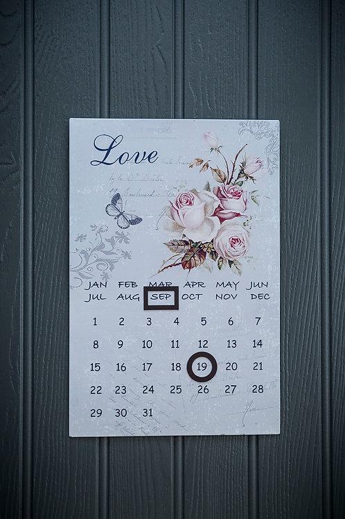 Metal Wall Hanging Calendar
