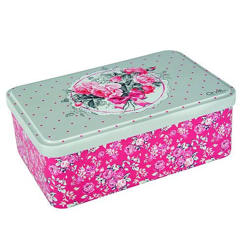 Rose Bouquet Biscuit/Sugar Tin