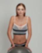 Model wearing Beautifit Wireless Sports Bra