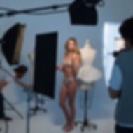 Photoshoot of Model wearing Beautifit Wireless Bra