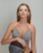 Model wearing Beautifit Wireless Yoga Bra