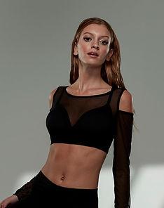 Model wearing Beautifit Wireless yoga top