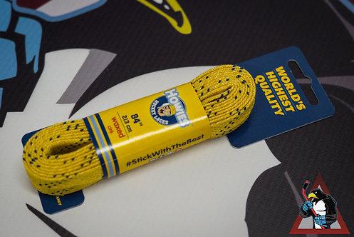 Шнурки хоккейные Howies профессиональные с пропиткой желтые