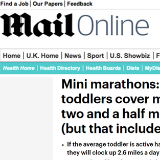 Mini marathons: Tireless toddlers cover more than 2.5 miles a day