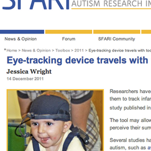 Eye-tracking device travels with toddlers