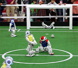 The way toddlers waddle can teach robot footballers how to play