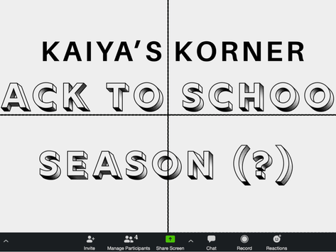 Back to School Season (?)