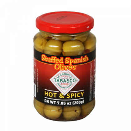 Tabasco Stuffed Spanish Olives Hot and Spicy