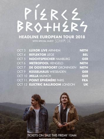 Pierce Brothers - EU TOUR 2018