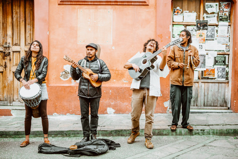Local buskers in San Cristobal