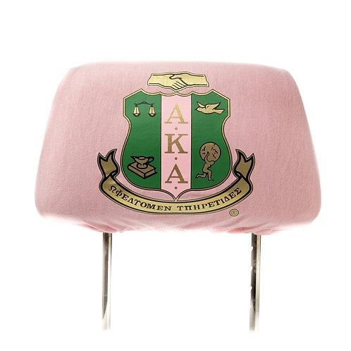 Pink AKA Car Seat Headrest Cover