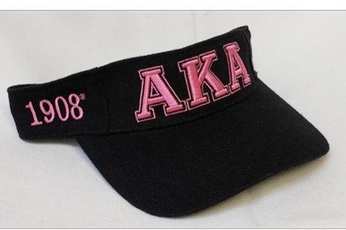 AKA Black Sun Visor Hat