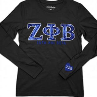 Zeta Phi Beta Long Sleeve Sequin Shirt