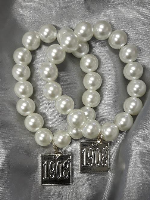 AKA Stretch Bracelet w/1908 Charm