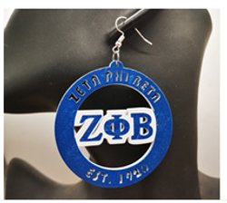 Zeta Phi Beta Large Hoops