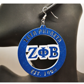 Zeta Phi Beta Large Hoop Earrings