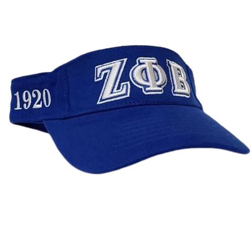 Zeta Blue Sun Visor Hat