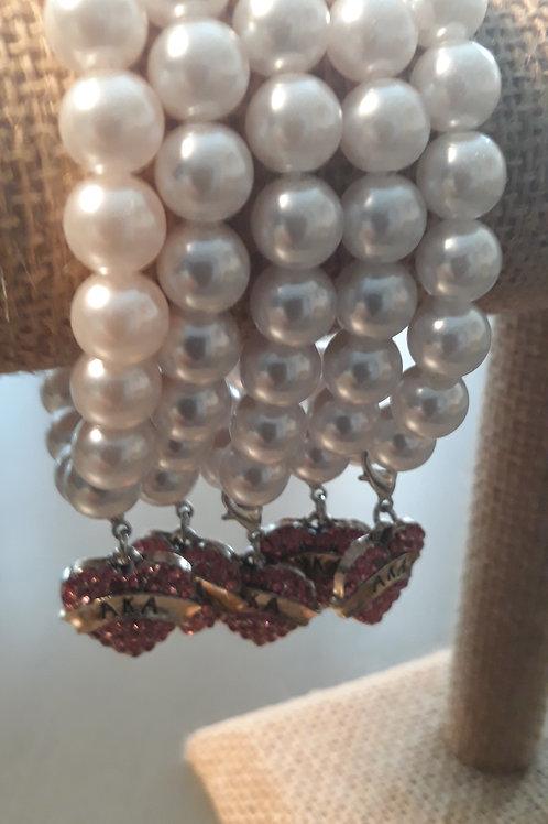 AKA Pearl Stretch Bracelet