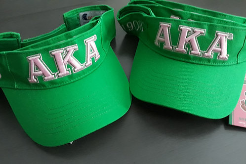 AKA Green Sun Visor Hat