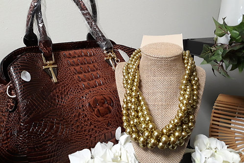 Brown Snakeskin Handbag