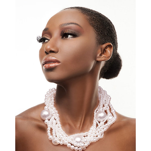 Pearl Twisted Necklace Set