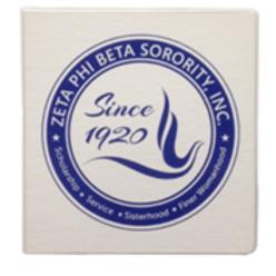 Zeta Phi Beta Three Ring Binder