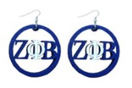 Zeta Phi Beta Small Hoop Earrings