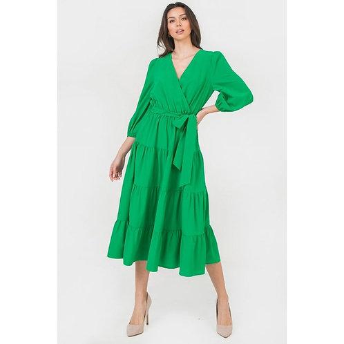 Kelly Green Woven Dress