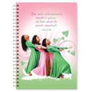 Three Ladies - Pink And Green Wired Journal