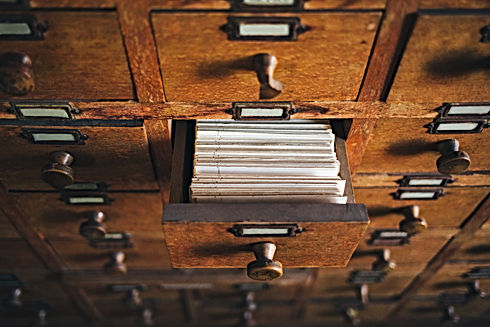 File catalog box. Concept for database,