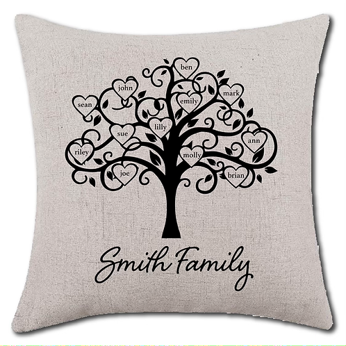 Customizable Family Pillow