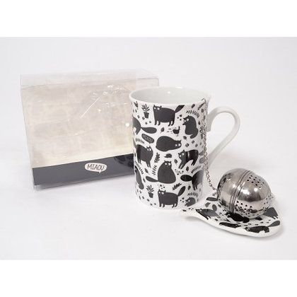 COFFRET MUG A THE CHAT RODOLPHE