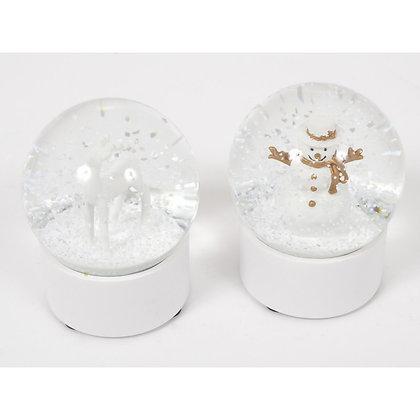 WHITE boule à neige 7cm - 2 modèles