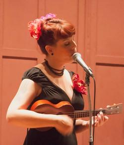 Lisa singing at Sunday Swing 2014