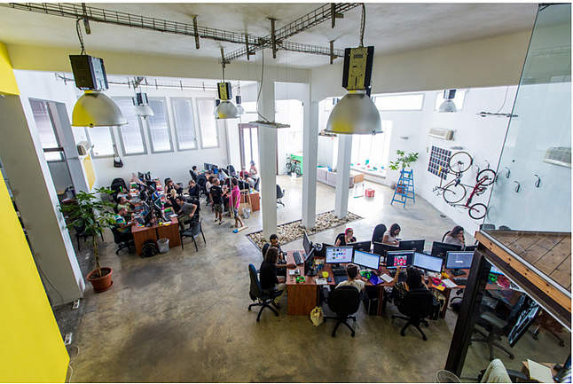 A big office
