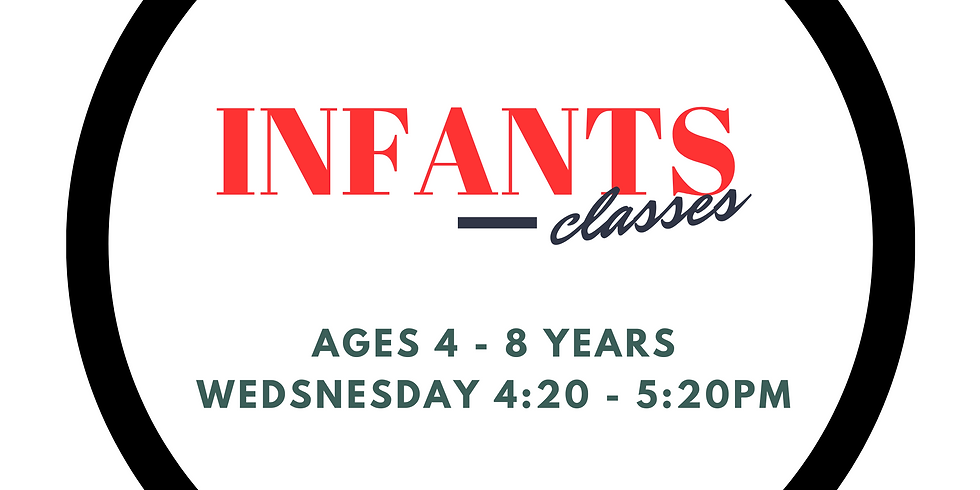 TYT Infants (Ages 4 - 8)  Weds Class- Summer Term