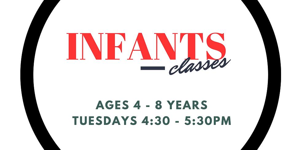 TYT Infants (Ages 4 - 8)  Tues Class Summer Term