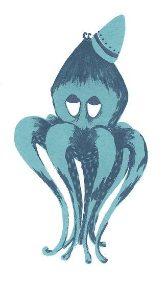 Megan Hobby Kauffman octopus illustration hat
