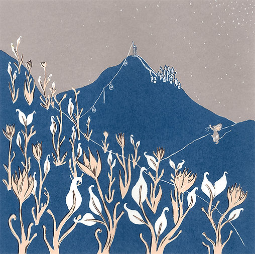 Megan Hobby Kauffman mouse landscape hill flower