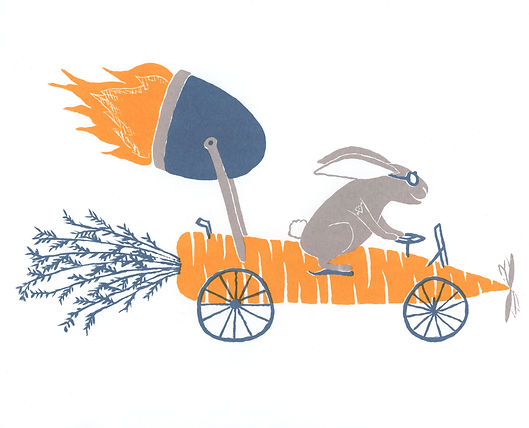Megan Hobby-Kauffman carrot car race rabbit rocket